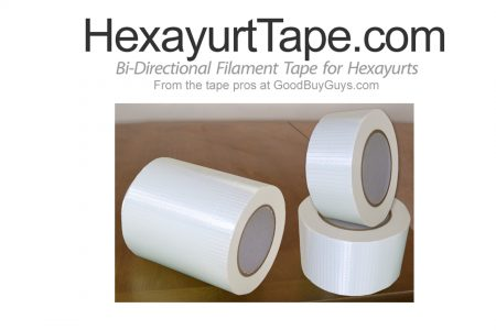 Hexayurt Tape is now white
